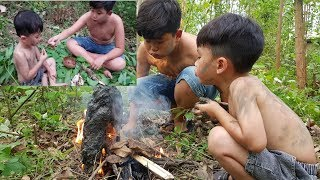 Primitive Technology -  Eating delicious  - Cooking snakehead recipe