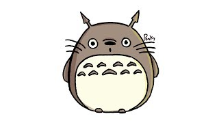 HOW TO DRAW TOTORO EASY STEP BY STEP!!!