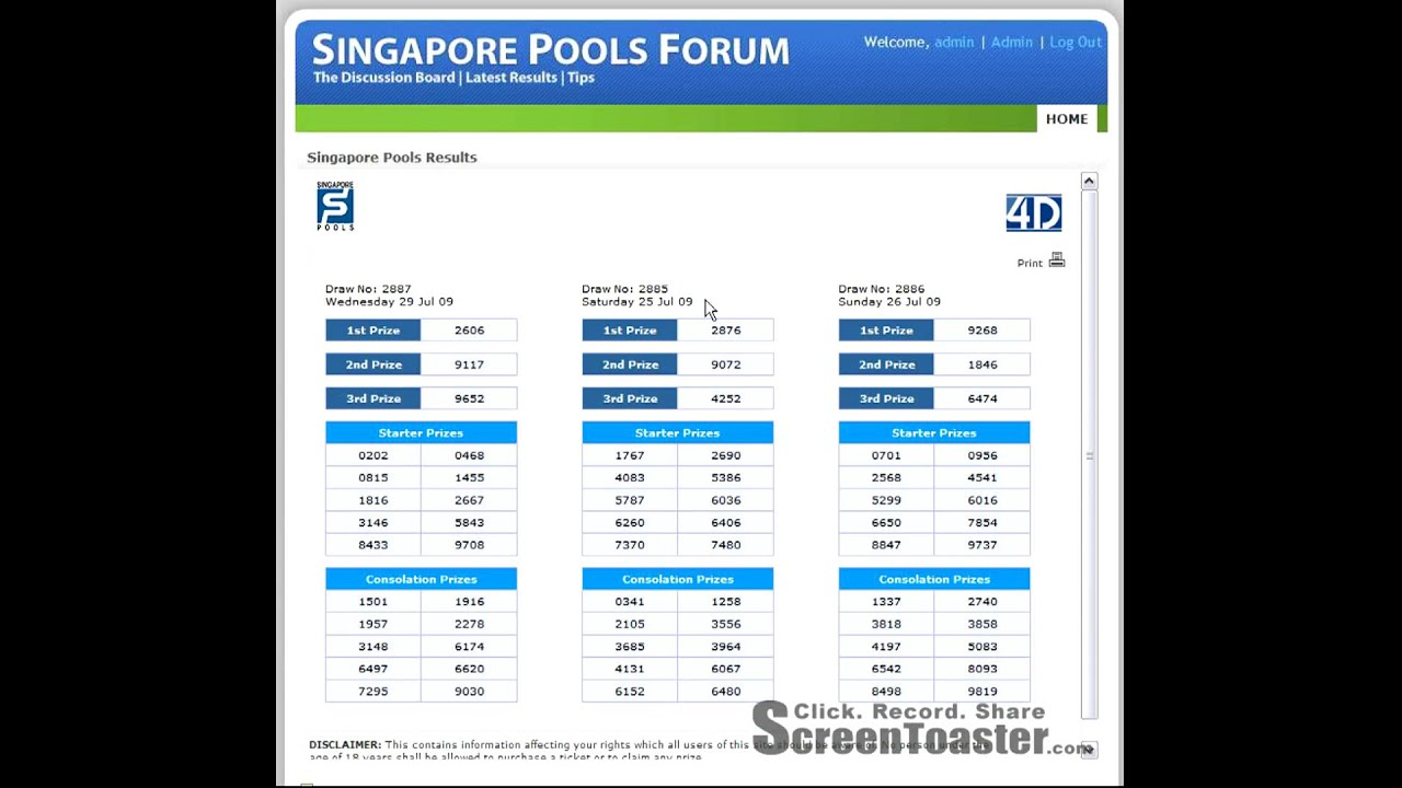 singapore pools latest results youtube