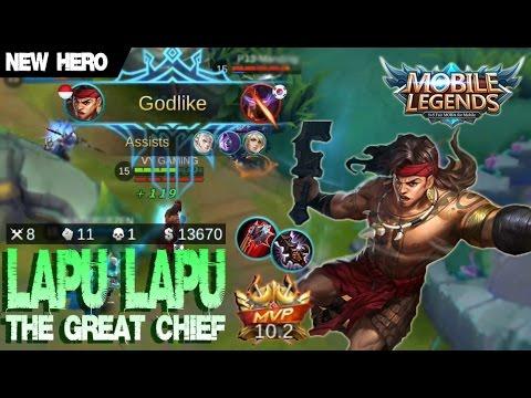 Mobile Legends - New Hero LAPU LAPU Gameplay and Build [MVP] + Sun 'n Sand Clint Skin Giveaway