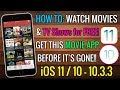 GET This App Before It's BANNED! Watch Movies & TV Shows FREE iOS 11 / 10 (No Jailbreak No Computer)