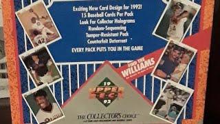 OPENING SOME 1992 UPPER DECK BASEBALL PACKS!!! BREAK COMING SOON!!!