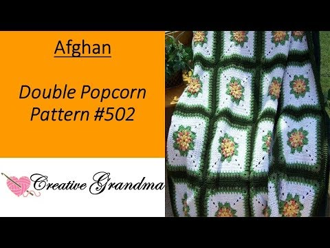 Double Popcorn Floral Afghan Block Tutorial - FREE PATTERN