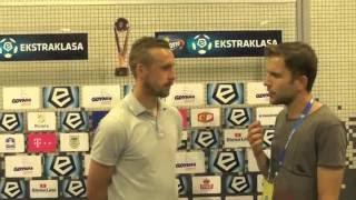 Zjawiński i Marcjanik po meczu z Zagłębiem
