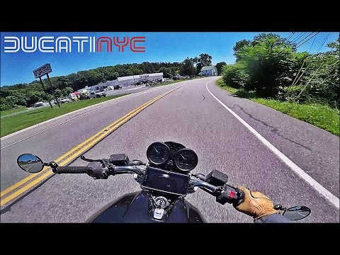 Long Ride to NYC from Hawks Nest / Upstate NY on a Ducati Monster v517