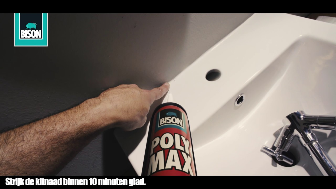 Kitten badkamer wasbak lijmen en afdichten youtube