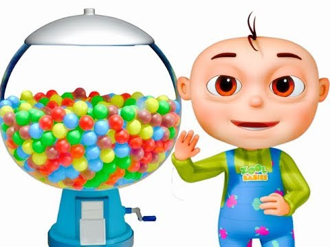 Thumbnail: Five Little Babies Playing Ball Machine (Singles) | Learn Colors For Kids | Original Learning Songs