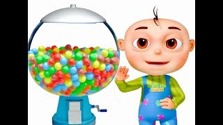 five Little Babies Playing Ball Machine (Single) | Learn Colors For Kids | Original Learning Songs
