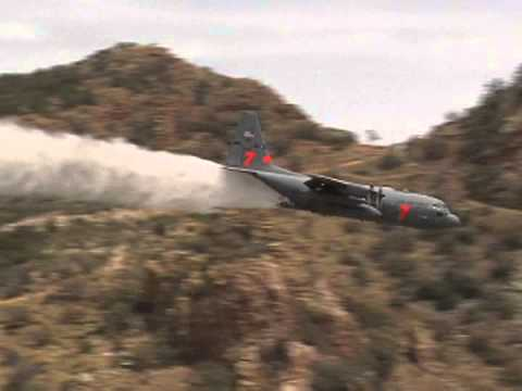 INCREDIBLE - MUST SEE!  Amazing Footage of MAFFS Fire Fighting Aircraft!