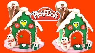 How to Make a Play Doh Gingerbread House Fun & Creative for Kids Rhymes * RainbowLearning