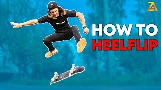 КАК ЛЕГКО СДЕЛАТЬ ХИЛФЛИП НА СКЕЙТБОРДЕ / HOW TO HEELFLIP ON A SKATEBOARD!