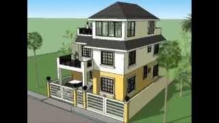 House Plan Designs - 3 Storey W/ Roofdeck