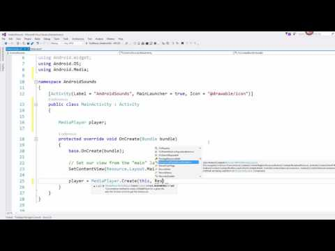 Xamarin Android Lesson 4 -  Playing Audio Files