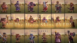 All The Hero Skins EVER! May 2020 Clash of Clans #ClashofClans Gold Pass