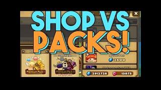 Shop Refreshing VS Premium Pack 2!  Crystal Spending Summoners War Showdown!
