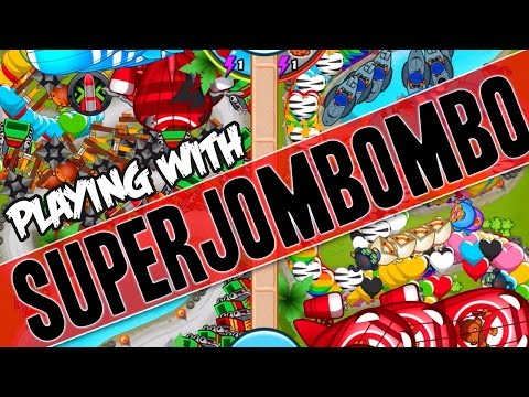 Bloons TD Battles   :: PLAYING WITH Superjombombo  ::  FARMS VS ECO
