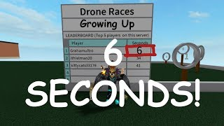 Roblox | Growing Up | New Drone Race Record!