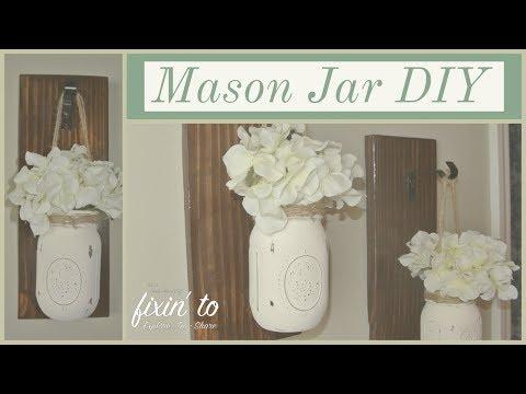 Mason Jar DIY | Mason Jar Sconces