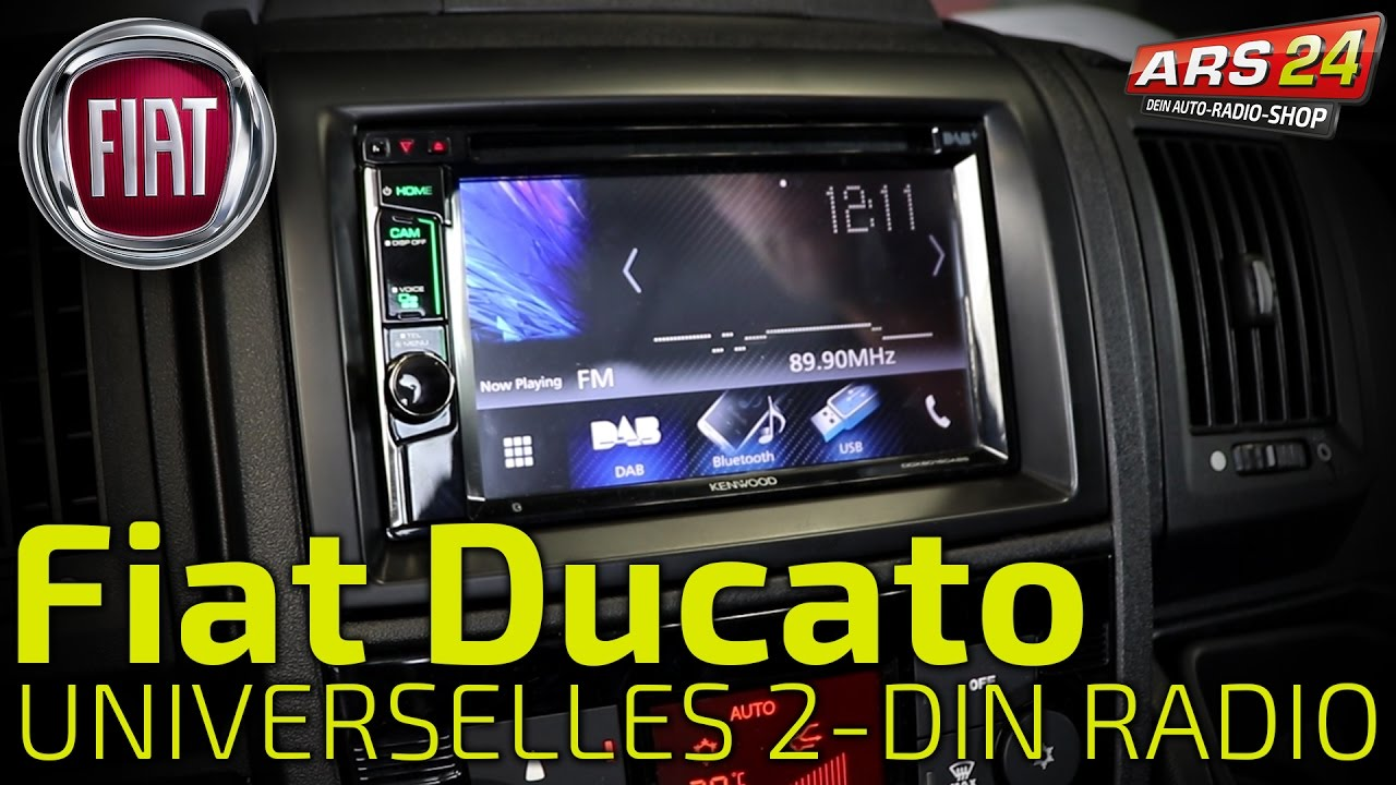 2 din autoradio im fiat ducato einbauen tutorial kenwood. Black Bedroom Furniture Sets. Home Design Ideas