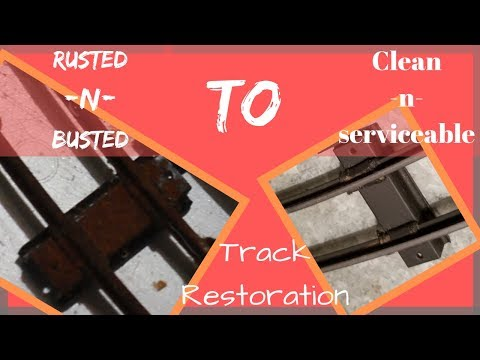 Can Rusty American Flyer Tinplate Track Be Saved?