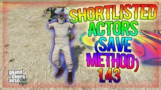 *100% SAVE* Shortlisted Actors Outfits Glitch 1.43 (SAVE METHOD) GTA 5 ONLINE