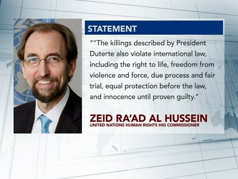 Malacañang respects statement of UN Human Rights high commissioner vs Duterte