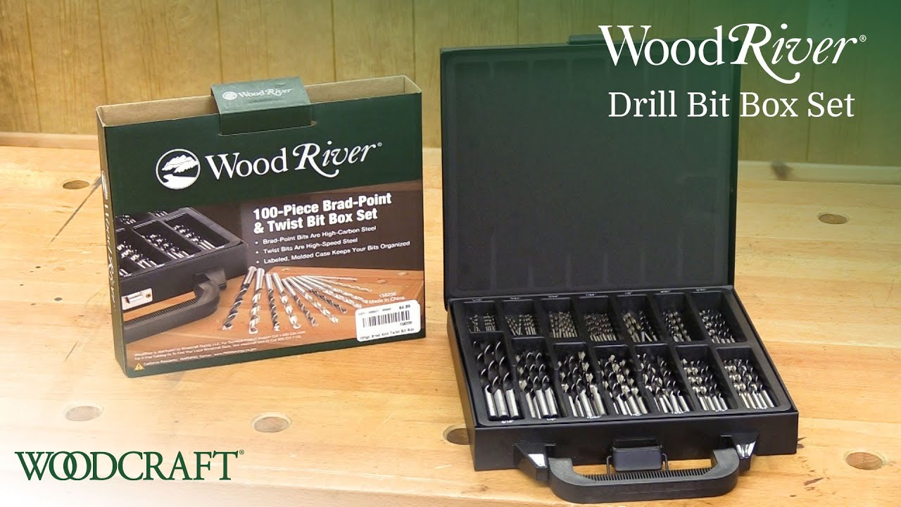 Bits, Bits, Bits! With the WoodRiver 100 Piece Drill Bit Set