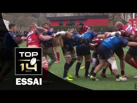 TOP 14 – Oyonnax - Montpellier : 10-31 – Essai Benjamin FALL (MON) – J18 – saison 2015-2016