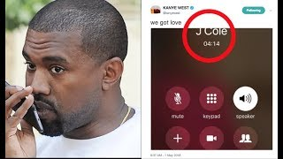 "Kanye West Gets J.Cole On The Phone To Discuss Cole Alleged Dislike For ""False Prophet"""