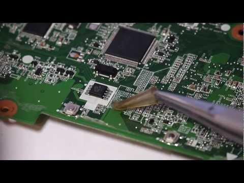 Снятие микросхемы BIOS