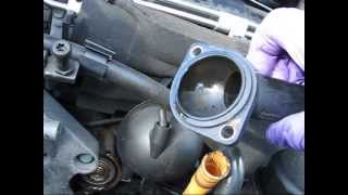 Mk4 Golf tdi thermostat, alternator and fan belt replacement, Ed China style gloves!
