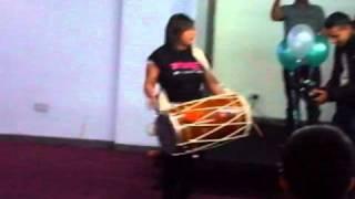 Missy J - The FEMALE Dholi playing dhol alongside Metz from Metz'N'Trix! Charity event!