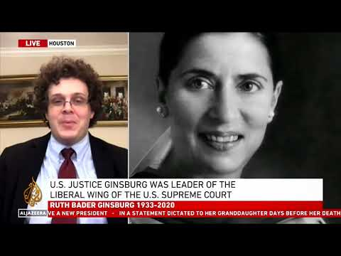 Guest on Al-Jazeera to discuss passing of Justice Ginsburg