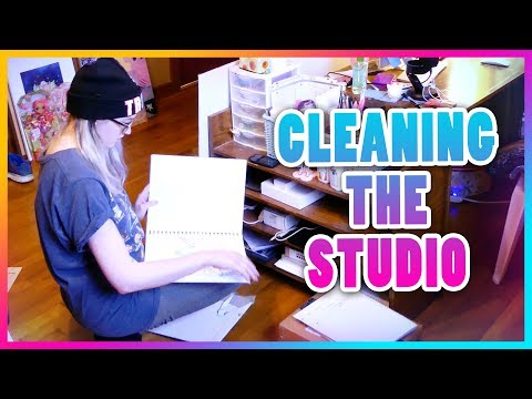 Shipping Supplies and Cleaning My Art Studio | FULL TIME ARTIST VLOG | EP 3