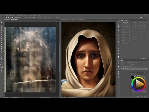 Mary, Mother of Jesus - Digital Painting (Time-Lapse)