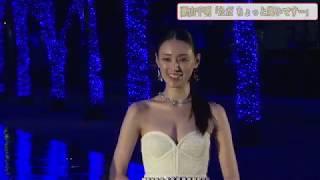 女優、栗山千明さんが21日、東京・代々木公園で行われたイルミネーショ...