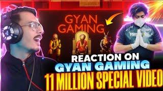 REACTION ON GYAN GAMING 11 MILLION LIFE STORY 😱 RAISTAR GYAN RISHABH FREE FIRE