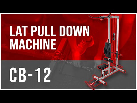 CB-12 Plate Loaded LAT Pull Down Machine With Lower T-Bar And Ab Crunch Harness