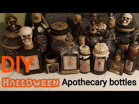 Halloween DIY Apothecary bottles 2018