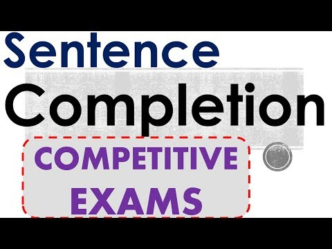 Sentence Completion Tips   50 solved Questions Examples