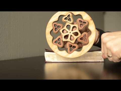Wooden non-circular planetary gear fidget spinner!