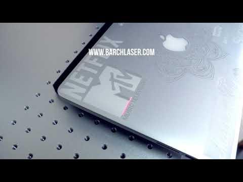 Amazing laser engraving on a mac, fiber laser optic for metal etching, metal marking machine