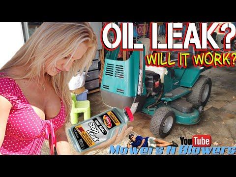 BARS LEAKS ONE SEAL STOP TRANSMISSION POWER STEERING ENGINE LAWN TRACTOR SUMP GASKET OIL LEAK FIX