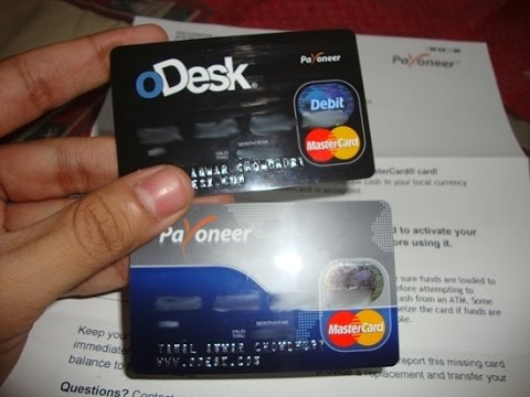 how to add payoneer card to fiverr