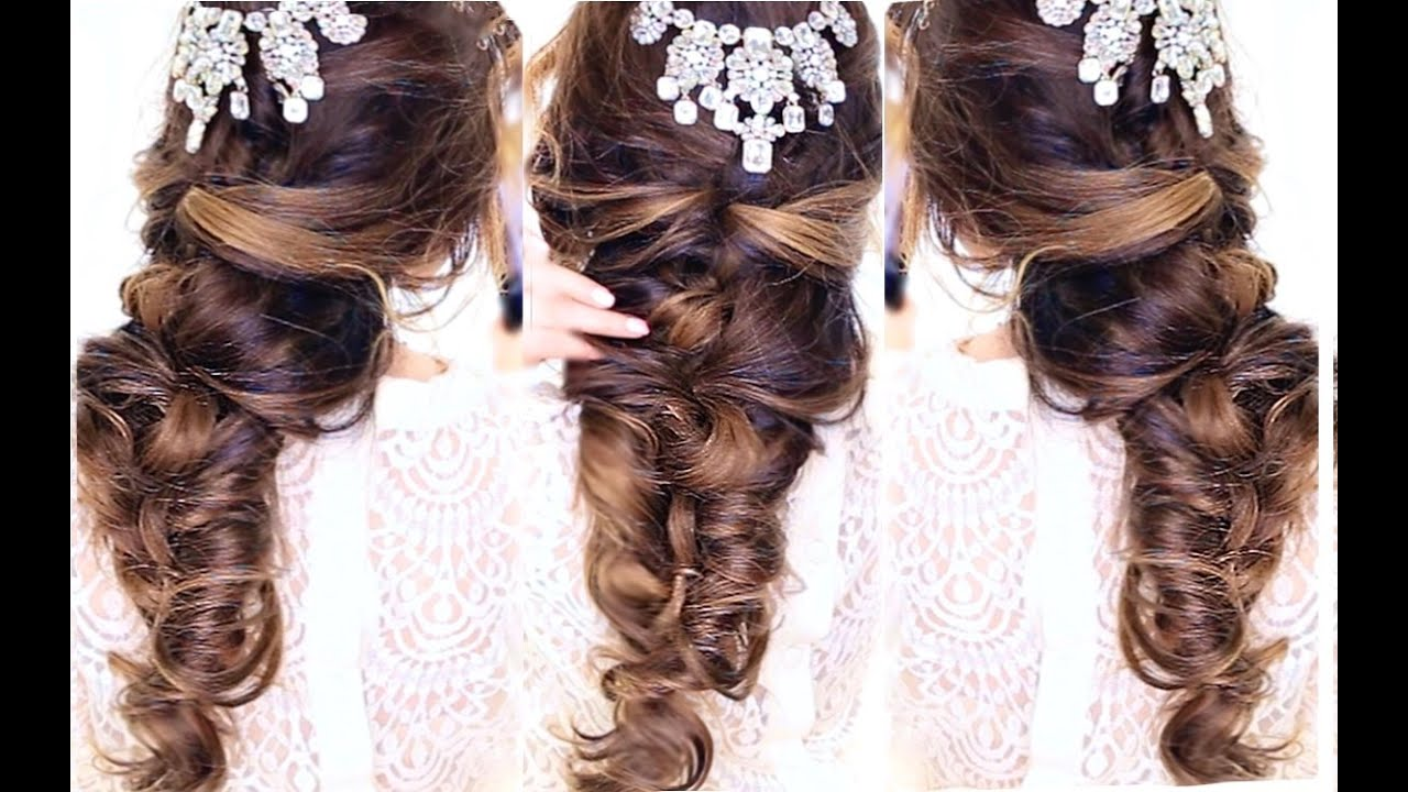 Easy Crisscross Half Updo Hairstyle Wedding Homecoming