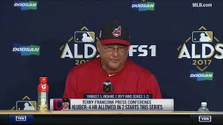 Terry Francona on the Indians losing the ALDS to the Yankees