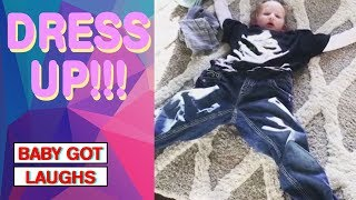 Little Kid, Big Clothes | Kids Playing Dress Up Compilation