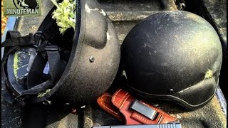 Shooting Kevlar Helmets Level IIIA