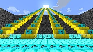 Minecraft: LUCKY BLOCKS DIAMOND STAIRCASE RACE MINI-GAME! (PVP Challenge)