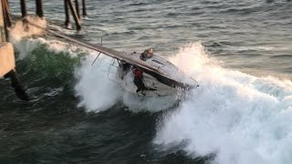 Download Full Version Including Passenger Rescue - Sailboat Capsized into Redondo Beach Pier in California Mp3 and Videos